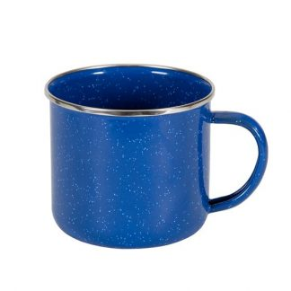 22 oz Enamel blue cup