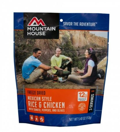 Mexican style rice and chicken Freeze-dried Pouched Food or Meal