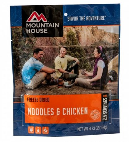 Noodles and Chicken Freeze-dried Pouched Food or Meal
