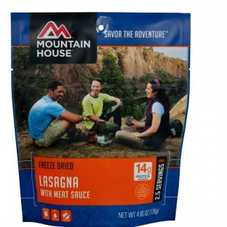 Lasagna with Meat Sauce Freeze-dried Pouched Food or Meal