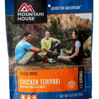 Chicken Teriyaki with Rice Freeze-dried Pouched Food or Meal