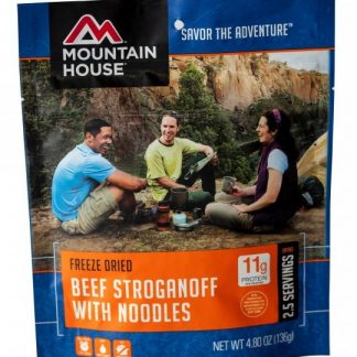 Beef Stroganoff with Noodles Freeze-dried Pouched Food or Meal
