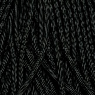 550 Paracord Black Jet Black Made in USA