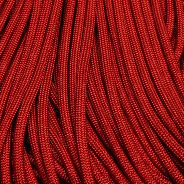 550 Paracord Red Imperial 100 ft Made in USA