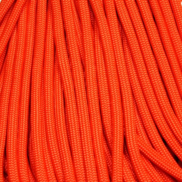 550 Paracord NEON Orange 100 ft Made in USA