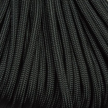 550 Paracord Black 100 ft Made in USA