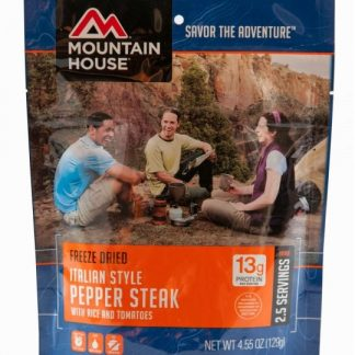 Italian Pepper Steak with Rice Freeze-dried Pouched Food or Meal