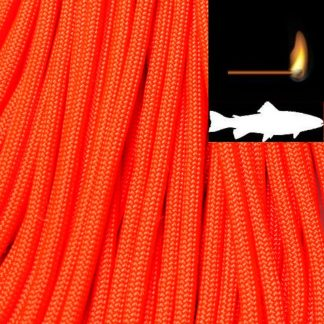 550 Fish & Fire Paracord Neon Orange Made in USA
