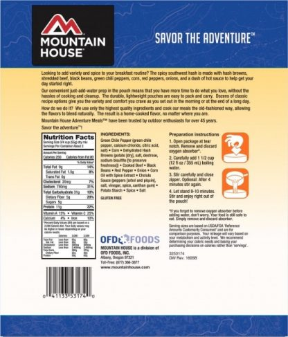 Mountain House Pouch - Spicy Southwest Breakfast Hash 2 servings