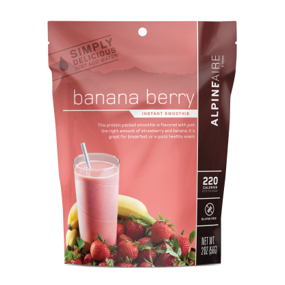 Banana Berry Instant Smoothie by AlpineAire Foods